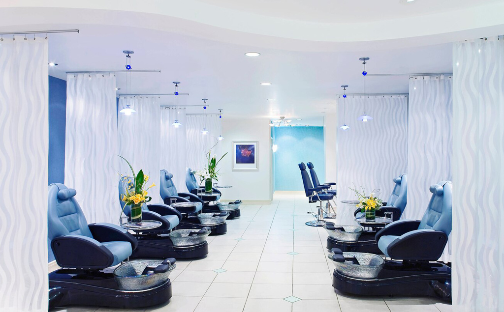 JW Marriott Las Vegas spa featuring numerous pedicure chairs